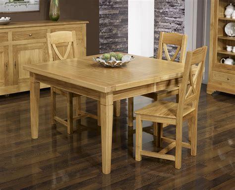 table de repas carr 233 e en ch 234 ne massif 140x140 pieds chanfreins meuble en ch 234 ne