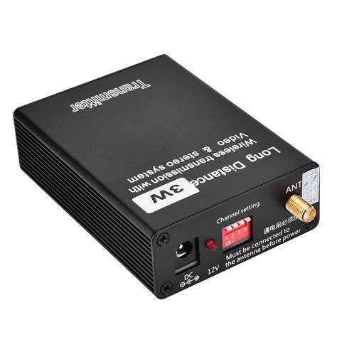 24GHz 12V 3W Wireless Audio Video AV Transmitter Sender