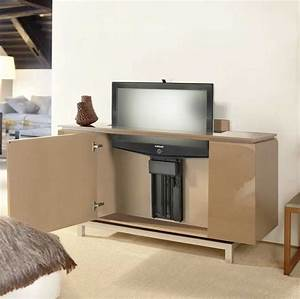 Sideboard Tv Versenkbar : fernsehschrank elektrisch ausfahrbar braun hochglanz f r funktionale m bel ideen nw homesite ~ Markanthonyermac.com Haus und Dekorationen