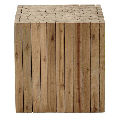 bout de canap 233 en bois l 35 cm alpin maisons du monde