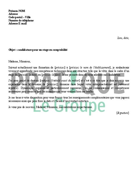 lettre de motivation stage cabinet comptable jennmomoftwomunchkins