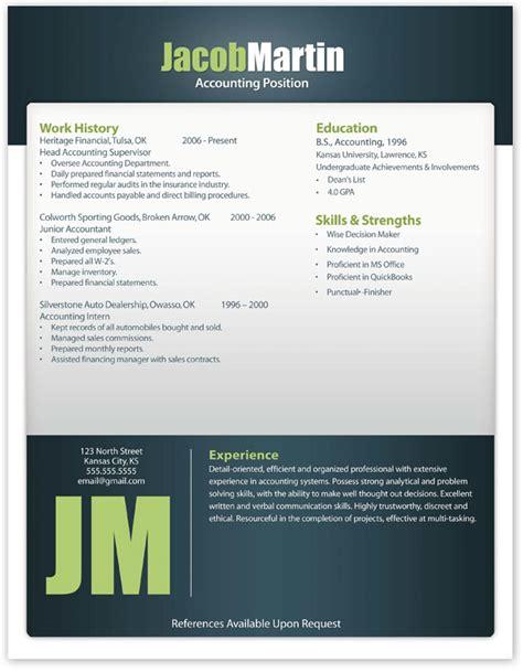 free modern resume template 12 free resume templates