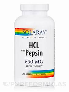 High Potency HCL with Pepsin 650 mg - 250 Vegetarian Capsules