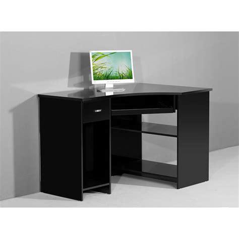Black Corner Computer Desk by Venus Black High Gloss Corner Computer Desk Ebay