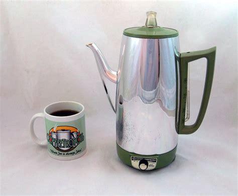 Mid Century GE Electric Percolator Coffee Pot by coffeetropolis