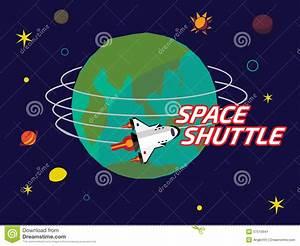 Space Shuttle Orbit Around The Earth Stock Illustration ...