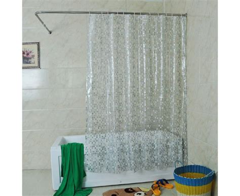 Solid Square Shower Curtain, 72 X 72-inch, Clear