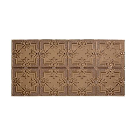 fasade traditional 2 2 ft x 4 ft glue up ceiling tile in argent bronze g51 28 the home depot