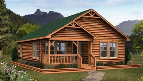 Small Log Cabin Modular Homes-bestofhouse.net