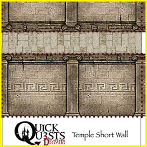 quests temple wall set 3d dungeon tiles and maps for
