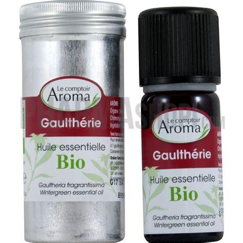 huile essentielle de gaulth 233 rie bio le comptoir aroma flacon de 10 ml