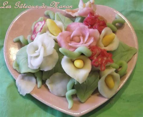 bouquet de fleurs en p 226 te d amande les g 226 teaux de manon