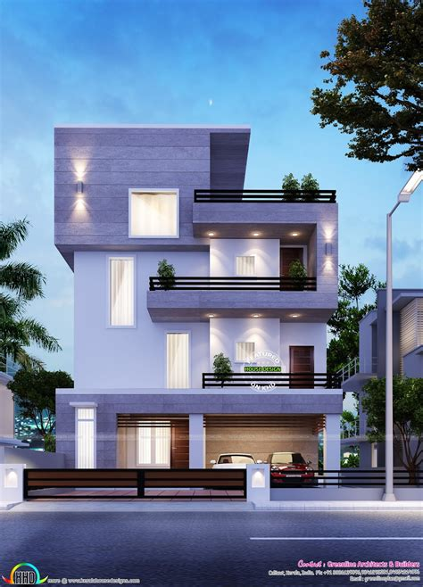 Simple Modern Home In Bangalore  Kerala Home Design And