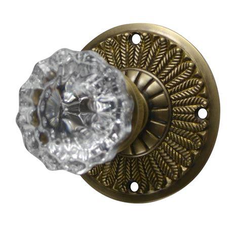 antique brass door knobs feathers fluted door knob antique brass finish