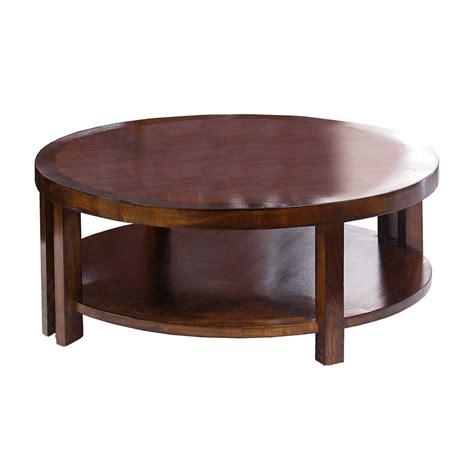 table basse ronde haut de gamme en chataignier 100 39 siete mares