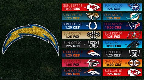 Chargers 2016 Schedule Wallpaper