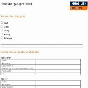 Hauskauf Checkliste Kostenlos : haus bergabeprotokoll mustervorlage f r haus bergabe als download ~ Markanthonyermac.com Haus und Dekorationen