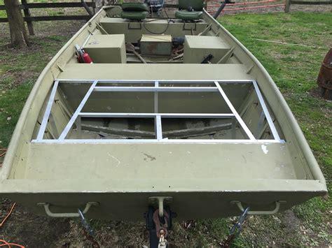 Deck Boat Job by My Jon Boat Build Boat Stuff Pinterest Boat Building