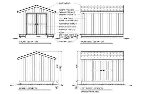 woodwork 10x12 storage building plans pdf plans