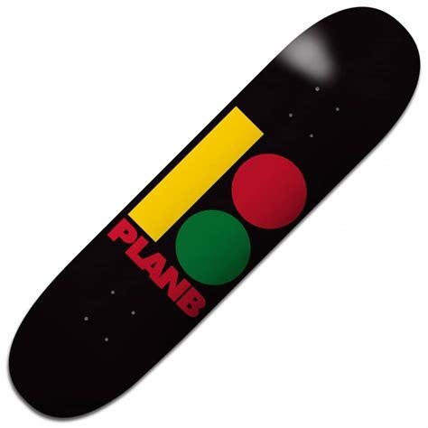 Plan B Skateboards Team B Rasta Skateboard Deck 775