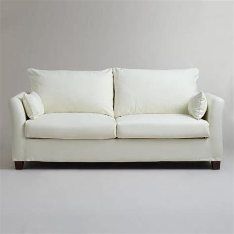 ivory luxe sofa slipcover world market