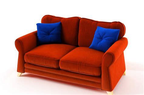 canap 233 2 places convertible en tissu de qualit 233 tomy orange mobilier priv 233