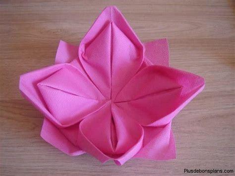 pliage de serviette fleur de lotus http www plusdebonsplans pliage serviette papier