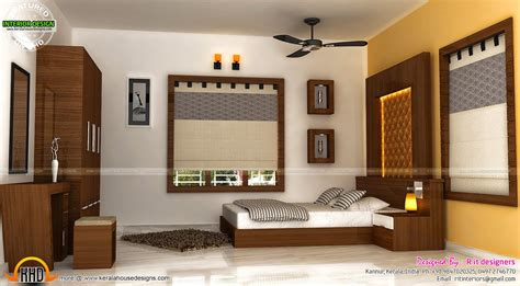 Staircase, Bedroom, Dining Interiors-kerala Home Design