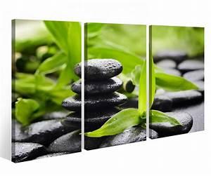 Bild 3 Teilig Auf Leinwand : leinwandbild 3 tlg wellness stein yoga bambus massage leinwand bild bilder auf keilrahmen holz ~ Markanthonyermac.com Haus und Dekorationen