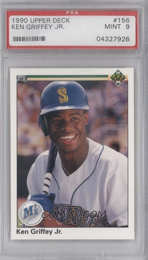 1990 deck base 156 1 ken griffey jr base