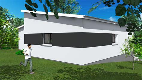 maison moderne toit plat plain pied maison moderne