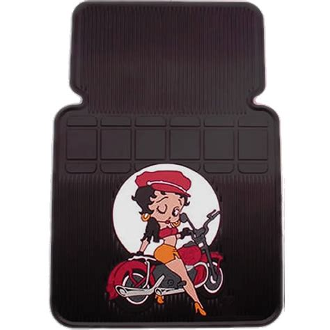 2pc betty boop motorcycle style front car floor mats ebay