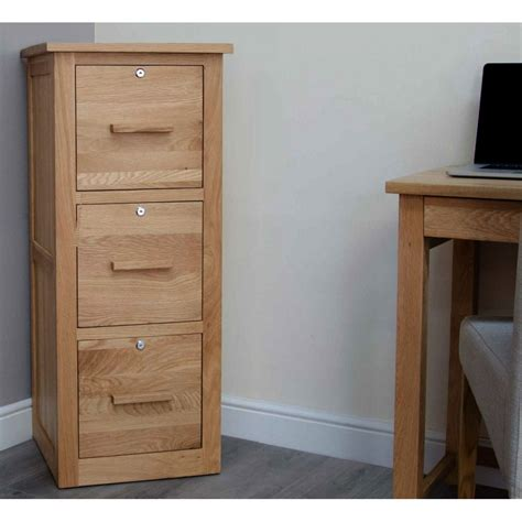 Three Drawer Filing Cabinet by Arden Solid Oak Office Computer Furniture Three Drawer