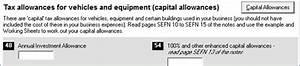 Enter capital allowances in Tax Platform