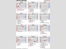 2019 Calendar PDF 17 free printable calendar templates