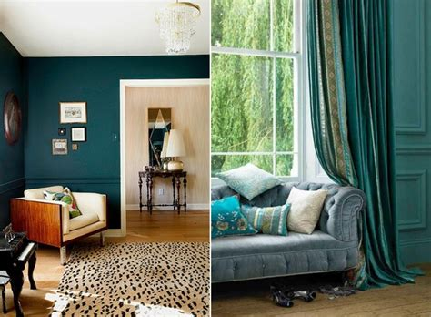 teal living room design ideas trendy interiors in a bold