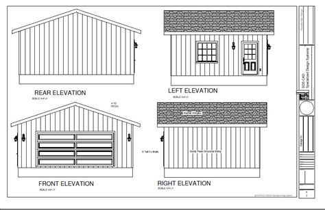 guide 16 x 20 shed building plans easy