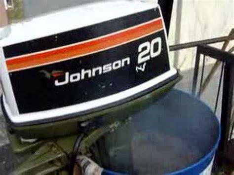 20 Horse Johnson Boat Motor by Outboard Johnson Seahorse 20 Hp 1976 Youtube