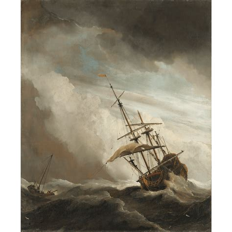 Een Schip by Een Schip In Volle Zee Bij Vliegende Storm Bekend Als De