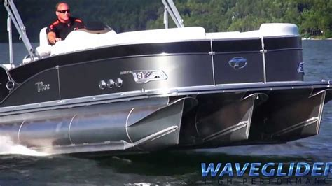 Fast Boat Videos by Fast Pontoon Boat Video Avalon S Waveglider High