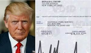 Trump is donating his paycheck to the National Park ...