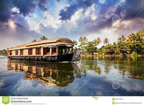 Kerala Boat House Vector by House Boat In Backwaters Royalty Free Stock Images Image