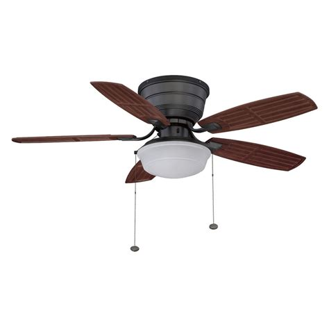shop litex 44 in iron flush mount ceiling fan with