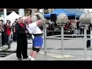 Boulder lift gone wrong UK Strongest man - YouTube