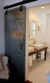 barn door for bathroom bathroom barn door eclectic bathroom