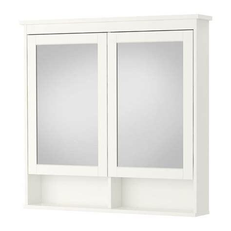 hemnes armoire 224 pharmacie 2 portes miroir blanc mirror cabinets cabinets and doors