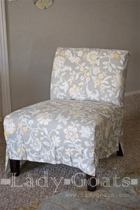 goats diy slipper chair slipcover without a template