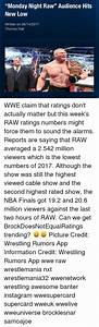 Monday Night Raw Audience Hits New Low Written on 06142017 ...