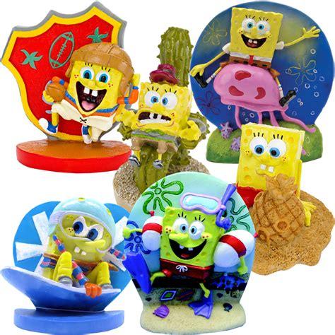 spongebob figures aquarium ornament set
