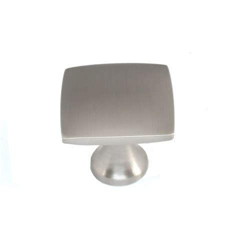 shop allen roth 1 4 in brushed satin nickel square